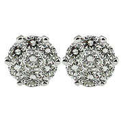 18K White Gold Anniversary 1.60cttw Diamond Earrings
