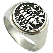14K White Gold Kabbalah Ring