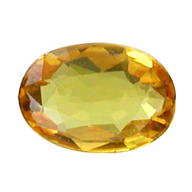 0.60 ct Oval Sapphire : Golden Yellow