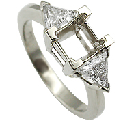 18K White Gold 1.00cttw Diamond Setting