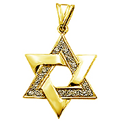 14K Yellow Gold 0.23cttw Diamond Star of David Pendant