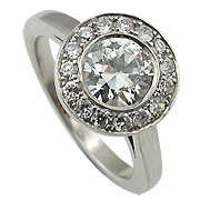 Platinum 1.04cttw Diamond Ring
