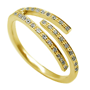 14K Yellow Gold 0.15cttw Diamond Ring