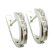 14K White Gold 0.25cttw Diamond Earrings
