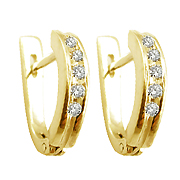 14K Yellow Gold 0.25cttw Diamond Earrings