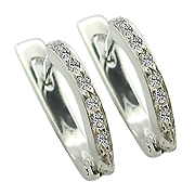 14K White Gold 0.14cttw Diamond Earrings
