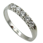 14K White Gold 0.33cttw Diamond Ring