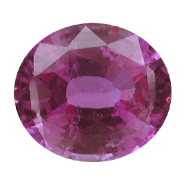 2.44 ct Oval Pink Sapphire : Deep Pink