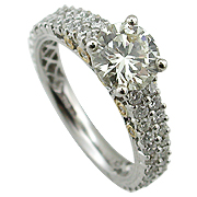 18K White Gold 2.70cttw Diamond Ring