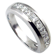 18K White Gold 0.90cttw Diamond Band