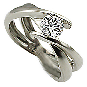 18K White Gold 0.33ct Diamond Ring