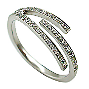 14K White Gold 0.15cttw Diamond Ring