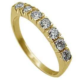 14K Yellow Gold Band : 0.50 cttw Diamonds