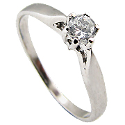 14K White Gold 0.20ct Diamond Ring