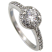 14K White Gold 0.84cttw Diamond Ring
