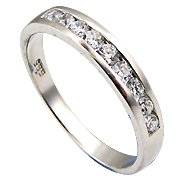 14K White Gold 0.32cttw Diamond Band