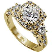 18K Yellow Gold 1.90cttw Diamond Ring