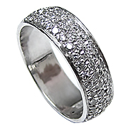 14K White Gold 1.00cttw Diamond Ring