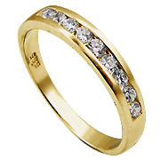 14K Yellow Gold 0.32cttw Diamond Band