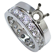 Platinum 2.00cttw Diamond Setting