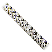 18K White Gold 1.00cttw Diamond Bracelet