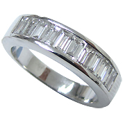 18K White Gold 1.00cttw Diamond Band