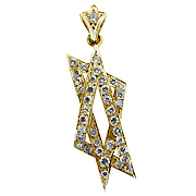 18K Yellow Gold 1.35cttw Diamond Pendant