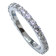 14K White Gold 0.75cttw Diamond Band