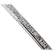 18K White Gold 10.0cttw Diamond Bracelet