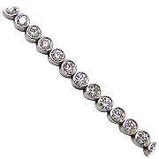 18K White Gold 4.00cttw Diamond Bracelet
