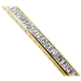 18K Yellow Gold Tennis Bracelet : 17.00 cttw Diamonds