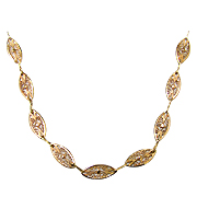 14K Yellow Gold Necklace,  Special design