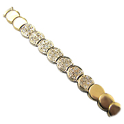 14K Yellow Gold 0.25cttw Diamond Bracelet
