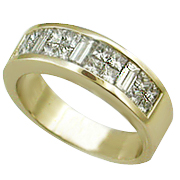 18K Yellow Gold 1.10cttw Diamond Band
