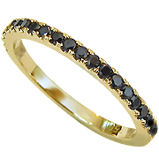 18K Yellow Gold 0.35cttw  Black Diamonds Color Enhanced Eternity Band