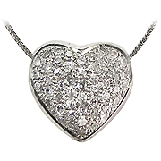 18K White Gold 0.50cttw Diamond Pendant
