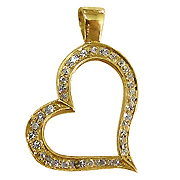18K Yellow Gold 0.17cttw Diamond Pendant