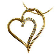 18K Yellow Gold 0.10cttw Diamond Pendant