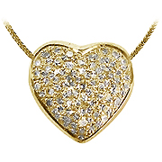 18K Yellow Gold 0.50cttw Diamond Pendant