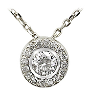 14K White Gold 0.18cttw Diamond Pendant