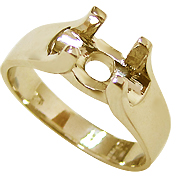 18K Yellow Gold Setting