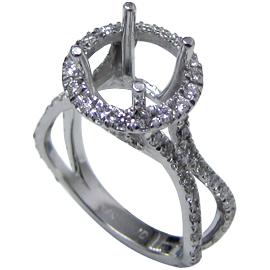 Platinum Multi Stone Setting : 0.70 cttw Diamonds