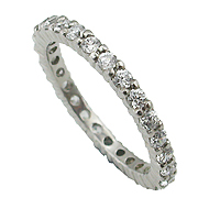 14K White Gold 1.00cttw Diamond Band