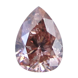 0.22 ct Pear Shape Diamond : Fancy Brownish orangy pink / I1
