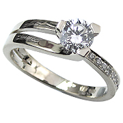 Platinum 0.60cttw Diamond Ring