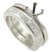 18K White Gold 0.60cttw Diamond Setting