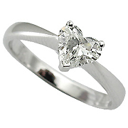 18K White Gold 1/3ct Diamond Ring