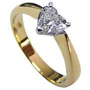 18K Two Tone 0.50ct Diamond Ring