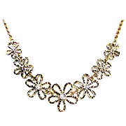 14K Two Tone 0.08cttw Diamond Necklace