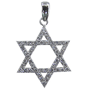 18K White Gold 0.66cttw Diamond Star of David Pendant